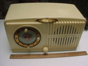Radio Relogio Ge General Electric Model 516 Anos 50 - Leia
