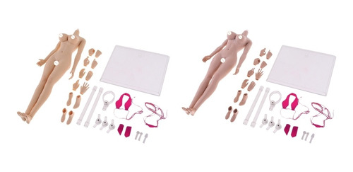 Imagen 1 de 6 de 2 Pcs 1/6 Escala Cuerpos De Mujer Modelo Juguete Para
