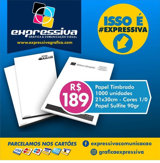 Papel Timbrado 1000 Unid - A4 - Petro E Branco - 1/0