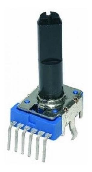 Potenciômetro Rotativo 500kc 90º C/parada Central Kit C/6pcs