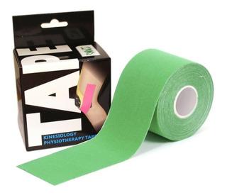 Fita Kinesio Verde 5cm X 5 Metros Bandagem Elastica Esporte