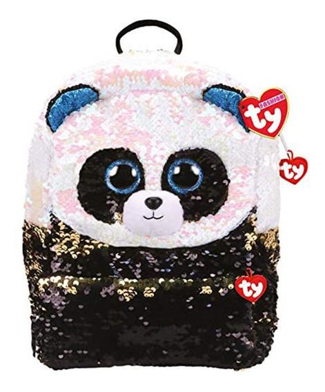 Mochila Ty Animales Lentejuelas Panda Espalda 10