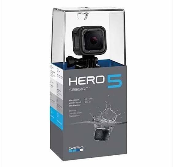Câmera Gopro Hero 5 Session Completa Filma Em 4k Sem Uso
