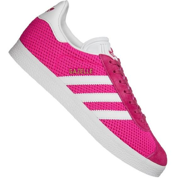 Original Hombre Tenis adidas Gazelle Og Gamuza Retro Pink Tenisshop