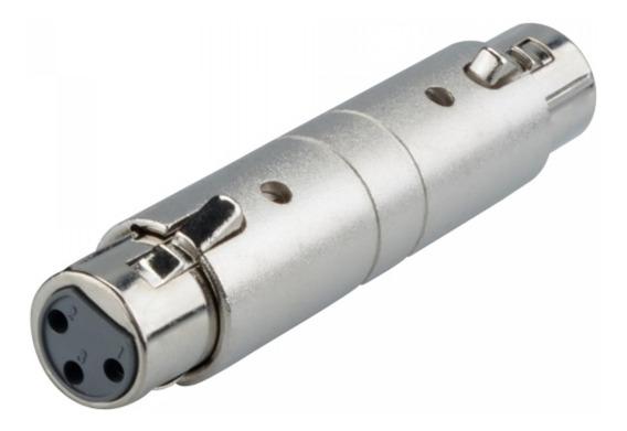 Emenda Cannon Fêmea 3 Pinos Metal - Xlr Fêmea X Xlr Fêmea