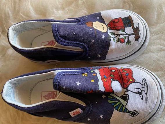 Zapatillas Vans Imp. Snoopy T22/23 Impecables Niños Hermosas