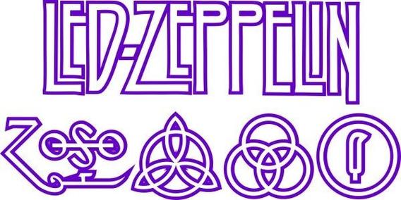 Adesivo Led Zeppelin - Várias Cores - Qualidade Vinil Studio