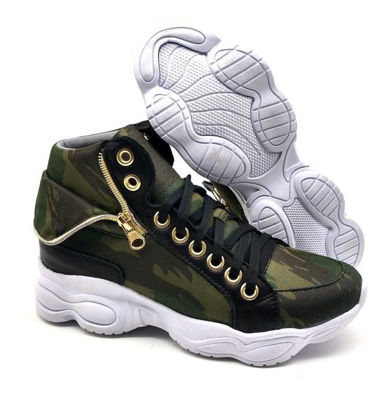 Tênis Dad Chunky Sneaker Feminina Bm Brasil 250 Camuflado