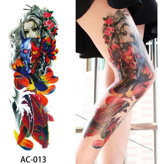 Tatuagem Grande Para Perna (15x45cm) Temporária