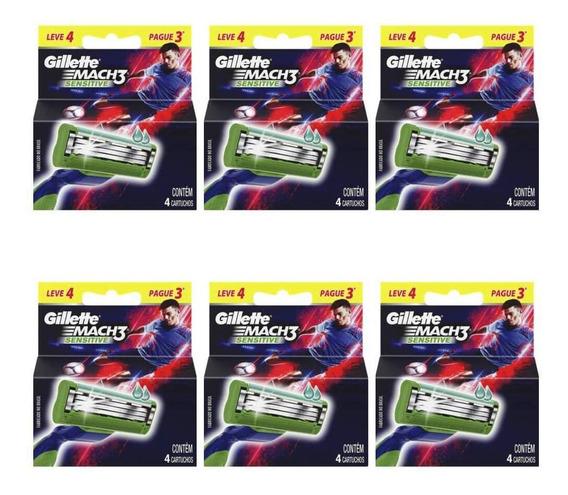 Gillette Mach3 Sensitive Carga Futebol C/4 (kit C/06)