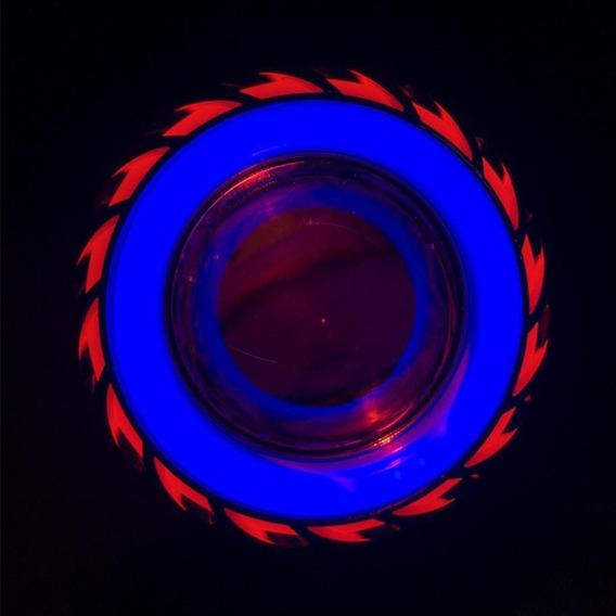 Farol Projetor Retrofit Furacão Duplo 2 Angel Eyes H1 H4 H7