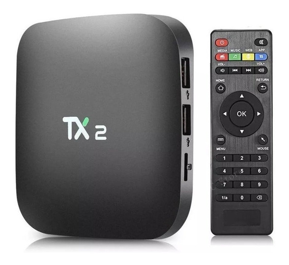 Smartv Tv Box 16gb Tx2 2gb Ram Com Android 7.1 & Bluetooth