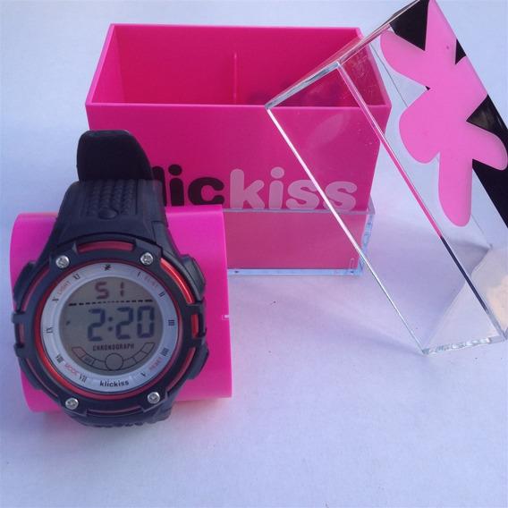 Relógio Masculino Preto E Vermelho Klickiss 20328-5