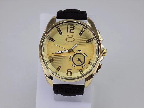 Relógio Masculino Orizom Dourado Original Spaceman Promoção