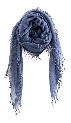Chan Luu Nuevo Indigo Cashmere Y Silk Soft Scarf Shawl Wrap