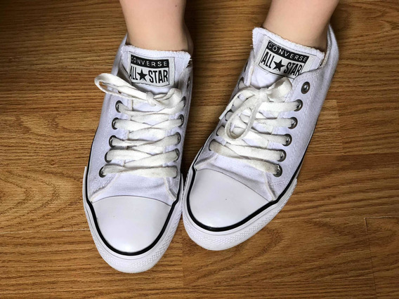 Zapatillas Blancas Converse All Star Talle 39 39,5