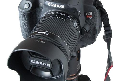 Parasol ew-63c UV filtro polarizador ø58 se adapta a Canon EF-S 18-55 is STM