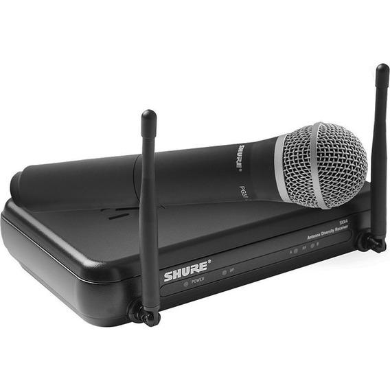 Microfone Sem Fio Shure Original Svx24 Pg58 Profissional