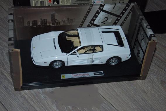 Miniatura Ferrari Testarossa Miami Vice Hotwheels Elite 1/18