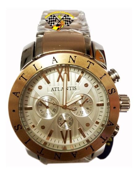 Relógio Masculino Atlantis Fundo Branco A3310 Grande