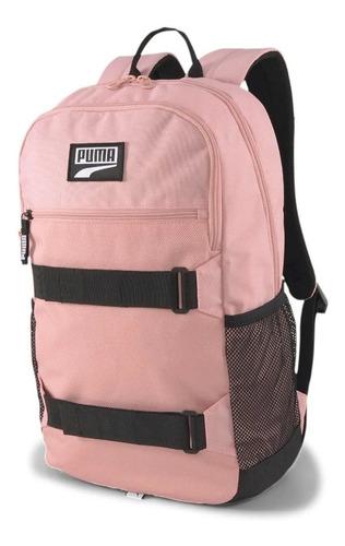 Imagen 1 de 3 de Mochila Puma Deck Backpack Rosa Laptop Escolar Urbana Viaje