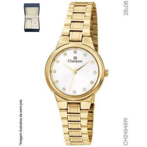 Relógio Champion Feminino Ch24946w + Kit Bijuteria