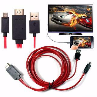 Cable Mhl Usb A Hdmi (ver Tu Celular En La Tv Como Smart Tv)