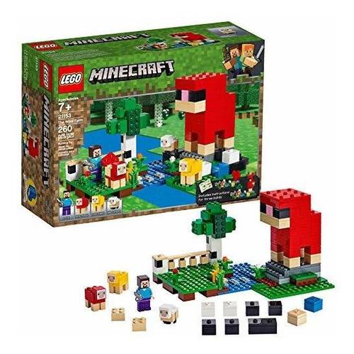 Lego Minecraft 21153 The Wool Farm - Juego De Construcción (