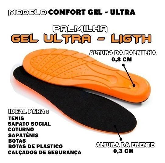 Palmilha Gel Anti-impacto Coturno Tenis Sapato C/30