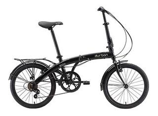 Bicicleta Dobrável Durban Eco+ Preto Aro 20 C/ 6 Marchas