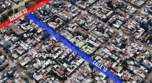 Terreno Venta 9x34 Mts - 294 Mts 2 Totales  - La Plata