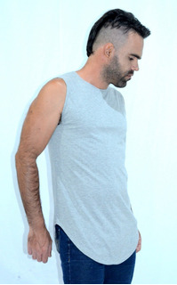 Camiseta Camisa Regata Swag Longline Oversized - Promoção