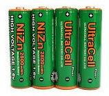 4 Bateria Recarregável Pilha Aa 1,6v 2500mah Nizn