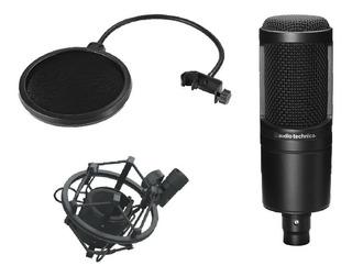 Audio Technica At2020 Micrófono Condenser Antipop Araña Set