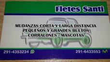 Fletes Y Mudanzas Santi Su Consulta Nos Agrada +542914353234