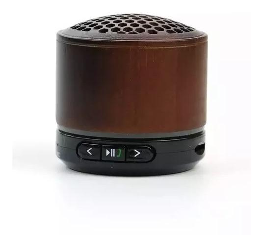 Mini Caixa Som Bluetooth Madeira Amplificada Sub Mp3 Fm Jp66