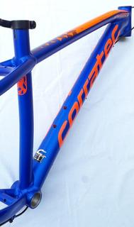 Quadro Mtb 29 Corratec X-vert 0.3 Azul E Laranja Neon Tam. P