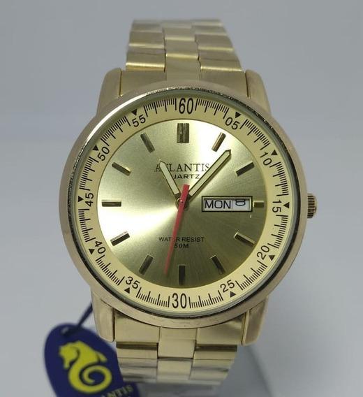 Relógio Atlantis Dourado - 6184g