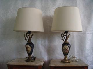 Lamparas Veladores Potiche Porcelana Francesa Estilo Sevres