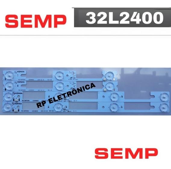 Kit Completo Tv Semp Toshiba Dl3244 Novo!!