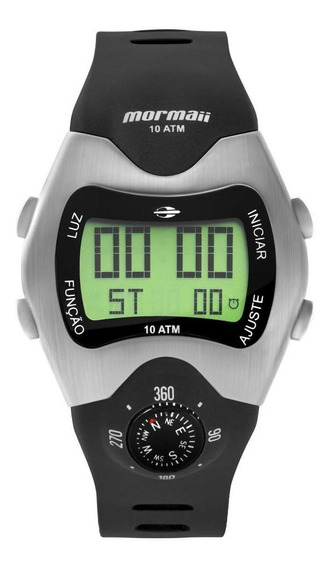 Relógio Masculino Mormaii Pro Digital Mo1324ab/1p 44mm Preto