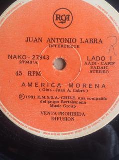 Vinilo Single Juan Antonio Labra America Morena