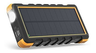Solar Powerbank 25000 Mah Negro Y Amarillo Bateria Externa