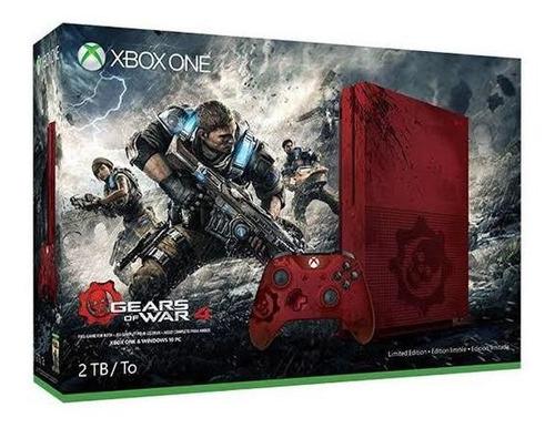 Xbox One S 2tb Ed. Limitada Gears Of War 4 + Jogo Brinde