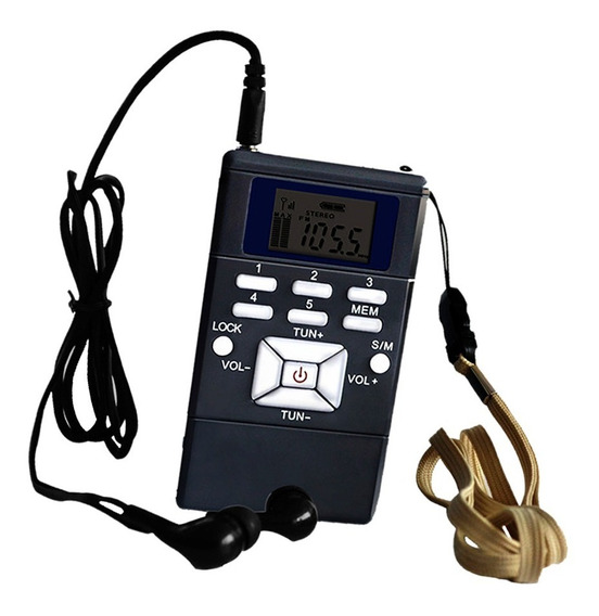 Portátil Mini Fm Rádio Bolso Digital Portátil E Fone De Ouvi