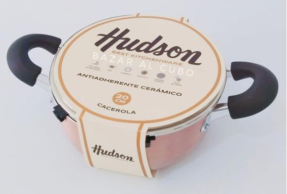 Cacerola Olla 20 Hudson Aluminio Antiadherente Ceramica