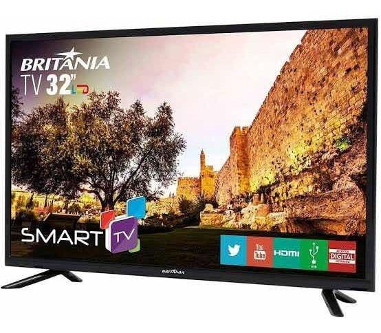 Tv Britânia 32 Polegadas Hd Smart Tv