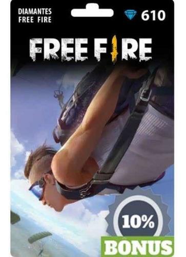 Gift Card Free Fire 610 Diamantes +10%