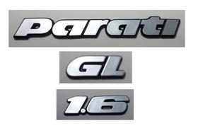 Kit Emblema Volkswagen Parati Gl 1.6 91 92 93 94 À 97 Brinde