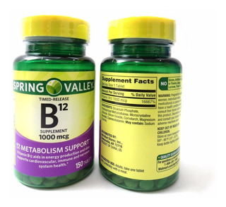 Vitamina B12 Spring Valley 1000mcg 150 Tablets
